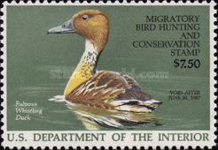 [Department of the Interior Duck Stamps - Fulvous Whistling Duck, Typ AV]