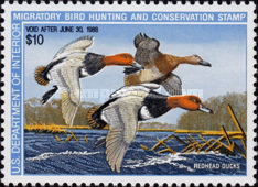 [Department of the Interior Duck Stamps - Redheads, Typ AW]
