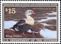 [Department of the Interior Duck Stamps - King Eiders, Typ BA]