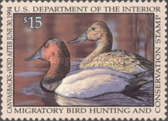 [Department of the Interior Duck Stamps - Canvasbacks, Typ BC]