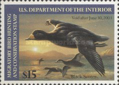 [Department of the Interior Duck Stamps - Black Scoter, type BL]