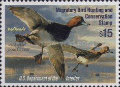[Department of the Interior Duck Stamps - Redheads, type BN]