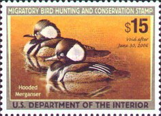 [Department of the Interior Duck Stamps - Hooded Mergansers, Typ BO]