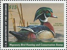 [Department of the Interior Duck Stamps - Wood Duck, type BV]