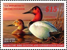 [Department of the Interior Duck Stamps - Canvasback, Typ BX]
