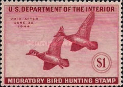 [Department of the Interior Duck Stamps - Wood Ducks, Typ E]