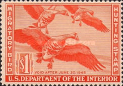 [Department of the Interior Duck Stamps - White-fronted Geese, type F]
