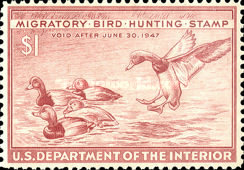 [Department of the Interior Duck Stamps - Redheads, Typ H]