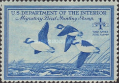 [Department of the Interior Duck Stamps - Buffleheads, Typ J]