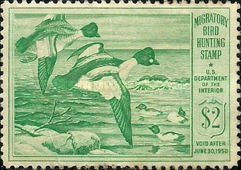 [Department of the Interior Duck Stamps - Common Goldeneye, Typ K]
