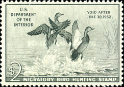 [Department of the Interior Duck Stamps - Gadwalls, Typ M]