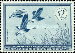 [Department of the Interior Duck Stamps - Blue Geese, Typ Q]