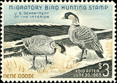 [Department of the Interior Duck Stamps - Nene Geese, Typ Z]