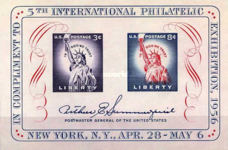 [Fifth International Philatelic Exhibition - Statue of liberty, Typ ]