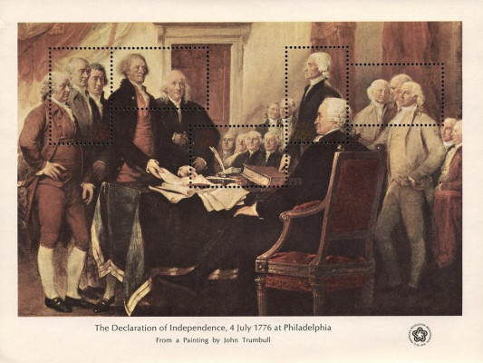 [The Declaration of Independence, 4 July 1776 at Philadelphia - By John Trumbull, 1756-1843, Typ ]