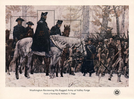 [Washington Rewiewing His Ragged Army at Valley Forge - By William T. Trego, Typ ]