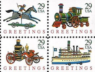 [Christmas Stamps - Toys, Booklet, type ]