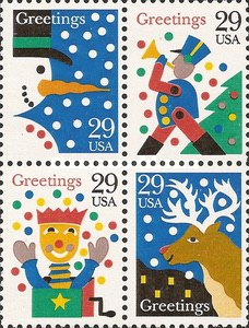 [Christmas Stamps - Greetings, Typ ]