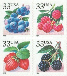 [Fruits - Self-Adhesive Booklet Stamps - Inscription