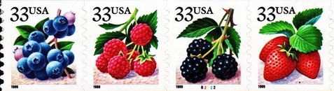 [Fruits - Self-Adhesive Coil Stamps, type ]