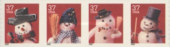 [Snowmen - Self-Adhesive Coil Stamps, Typ ]