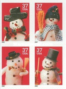 [Snowmen - Self-Adhesive Booklet Stamps, Typ ]