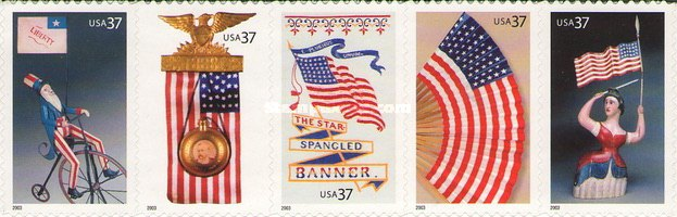 [Old Glory - Self-Adhesive Booklet stamps, Typ ]