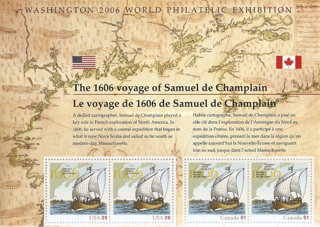 [The 400th Anniversary of the Exploration of the East Coast by Samuel de Champlain - Joint Issue with Canada, Typ ]