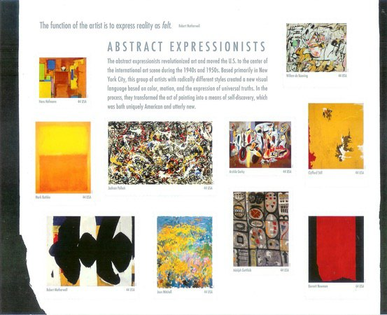[Paintings - Abstract Impressionists. Self Adhesive Stamps, type ]