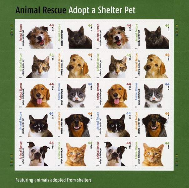 [Dogs & Cats - Adopt a Shelter Pet. Self-Adhesive Stamps, Typ ]