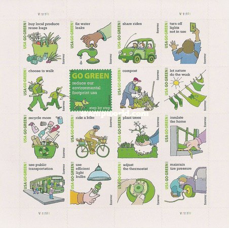 [Go Green Campaign - Self-Adhesive Stamps (44 cents), Typ ]