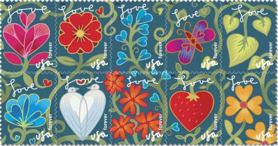 [Love Greetings Stamps - Self-Adhesive (44 cents), Typ ]