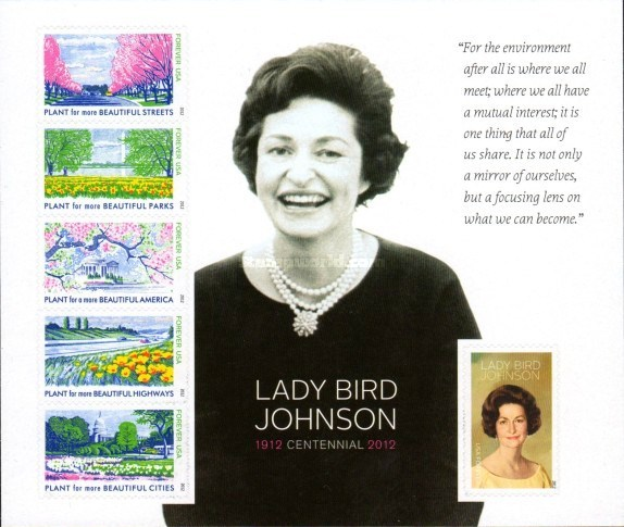 [The 100th Anniversary of the Birth of Lady Bird Johnson, 1912-2007 - Self Adhesive Stamps, Typ ]