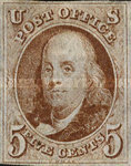 [Benjamin Franklin, 1706-1790 and George Washington, 1732-1799 - Bluish Paper, Typ A]