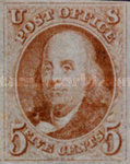 [Benjamin Franklin, 1706-1790 and George Washington, 1732-1799 - Bluish Paper, type A1]