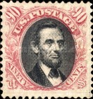 [Abraham Lincoln - Grill About 9½ x 9mm, Typ AE]