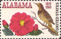 [The 150th Anniversary of Alabama Statehood - Camellia & Northern Flicker (Woodpecker), Typ AEP]