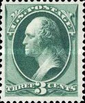 [George Washington - White Wove Paper, Typ AH]