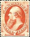 [Special Printings - Designs of 1873. Hard White Wove Paper without Gum, Typ AJ4]