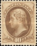 [Printed by American Bank Note Company - Designs of 1873. Thin to Thick Soft Porous Paper, Typ AK6]