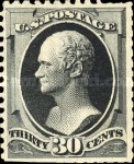 [Special Printings - Designs of 1873. Hard White Wove Paper without Gum, Typ AO4]