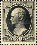 [Printed by American Bank Note Company - Designs of 1873. Thin to Thick Soft Porous Paper, type AO5]