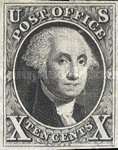 [Benjamin Franklin, 1706-1790 and George Washington, 1732-1799 - Bluish Paper, type B]