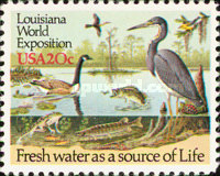 [Louisiana World Exposition - River Wildlife, Typ BET]