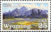 [The 100th Anniversay of Wyoming Statehood, type BSW]