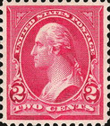 [George Washington, 1932-1799 - Lines do Not Cross Frame of Triangle - Recut, See Info, Typ BX15]