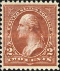 [George Washington, 1932-1799 - Lines do Not Cross Frame of Triangle - Recut, See Info, Typ BX21]