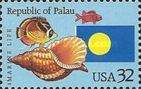 [Marine Life - The 1st Anniversary of Republic of Palau Independence, Typ CNP]