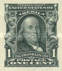 [Benjamin Franklin - Imperforated, type CY1]