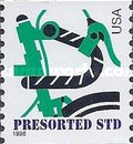 [Green Bicycle - Coil Stamps (10 cents), type DBB]